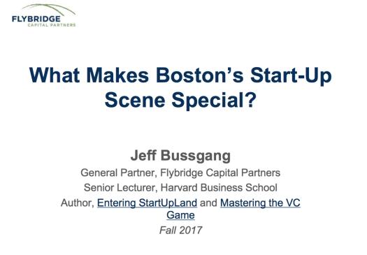 Boston StartUp Scene